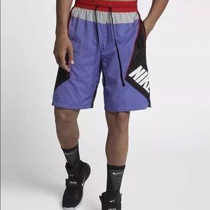Nike throwback purple basketball shorts - size s